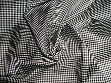 """MICRO BLACK & WHITE CHECKS~SILK TISSUE TAFFETA~ 9""""x22""""~MINIATURE DOLLS"""