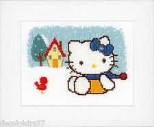 Vervaco  0148648  Hello Kitty  L'hiver  Kit  Broderie  Point de Croix  Compté