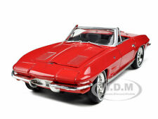 1963 CHEVROLET CORVETTE RED 1:32 DIECAST MODEL CAR BY SIGNATURE MODELS 32435
