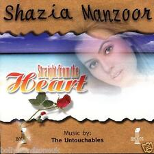 SHAZIA MANZOOR - STRAIGHT FROM THE HEART - NEW SOUND TRACK CD - FREE UK POST