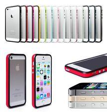 Bumper Case for Apple iPhone 5 / 5S / SE Metal Buttons Hard Plastic Rubber Rim