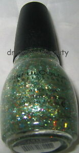 Sinful Colors Limited Ed Nail Polish *BOMBSHELL* Green & Multi-Color Hex Glitter