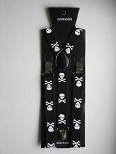 (All colors) Mens Womens Clip-on Suspenders Elastic Y-Shape Adjustable Braces