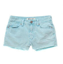 BRAND NEW ROXY WOMEN CASUAL SHORTS FRAY HEM HIGH-RISE CORDUROY STRETCH PANTS 3