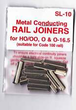 Peco SL-10 Pack of 24 OO Gauge Track Rail Joiners Fishplates Model Railway New