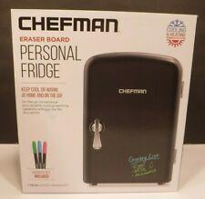 Chefman 4L Eraser Board Electric Portable Mini Personal Fridge Warming Function