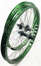 "BMX Wheels Sealed Cassette 20″x 1.75"" Wheel-set W/9T Driver (Anodized Green)"