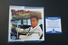 Placido Domingo signed advertisement card Beckett Coa