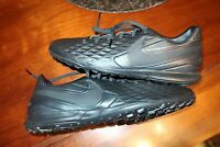 Nike Men's Tiempo Legend 8 III Pro TF Turf Leather Soccer Shoes Blackout Sz 12