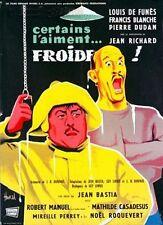 Affiche 60x80cm CERTAINS L'AIMENT FROIDE…/LES RÂLEURS… 1959 De Funès, Blanche #