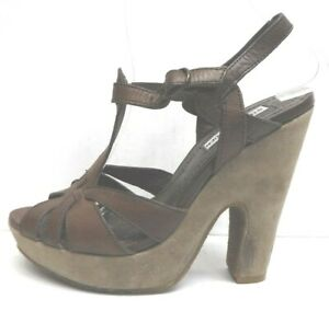 Steve Madden Size 7.5 Brown Leather Sandals  New Womens Shoes