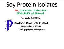 Soy Protein Isolates powder (90),  10.0 lb, Non-GMO, in bag