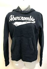 ABERCROMBIE & FITCH Hoodie Jumper L Large Navy Blue Cotton