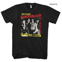 Official Black T Shirt THE CLASH Punk Japanese Poster 'Kanji' All Sizes