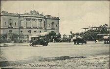 Buenos Aires Argentina Street Cars Hipodromo Argentino c1910 Postcard