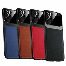 Leather Back Cover Case Protective Lens & Glass Screen Protector For Apple