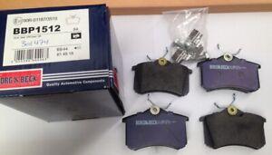 Borg & Beck REAR brake pads set for Citroen DS3, Peugeot 308, Renault Megane