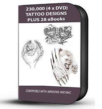 230,000 Flash Tattoo Designs raccolta su DVD 3 x + 28 EBOOK