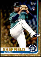 Justus Sheffield 2019 Topps Update 5x7 Gold #US123 RC /10 Mariners