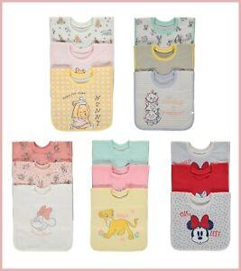 Disney Baby Girls Minnie Marie Winnie Character Pop Over Dribble Bibs 3 Pack NEW