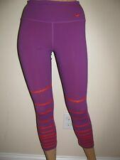 Nike Dri Fit Womens Workout Capri Pants Size XS Purple