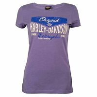 Harley Davidson HD Womens Sturgis Attraction Purple Short Sleeve T-Shirt