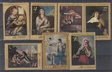 Urss 1971 serie quadri di pittori stranieri 3737-43  MNH