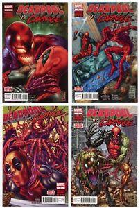 Deadpool vs Carnage #1-4 All NM/MT 9.8 SET! w/dig. codes 2014 Marvel 1 2 3 4 LOT