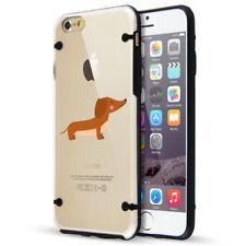 For Apple iPhone SE 5 6 6s 7 8 Plus Slim Clear TPU Hard Case Happy Dachshund
