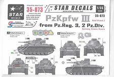 Star PzKpfw. III Ausf H, J Decals 1/35 873  DO