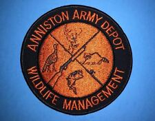 Rare Anniston Army Depot Wildlife Management Outdoor Iron On Jacket Patch Crest