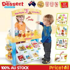 Kid Supermarket Pretend Play Icecream Dessert Set Scanner Cash Register Toy Gift