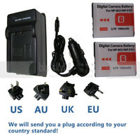 Type G Battery/Charger for SONY Cybershot NP-BG1 FG1 DSC-H20 H9 H3 T100 W80 W90