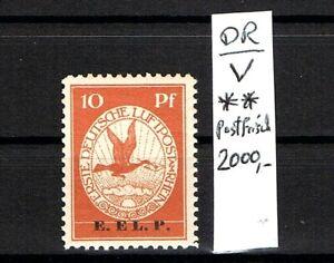 LUXUS Briefmarken Deutsches Reich Flugpost 1912 Mi-Nr. V .Postfrisch KW 2000,-