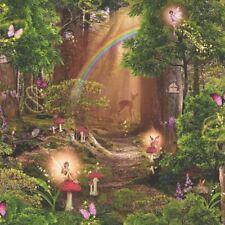 Arthouse Magic Garden Forest Pattern Childrens Wallpaper Pixie Fairy Tree 696009