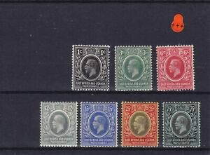 K.U.T East Africa & Uganda KGV 1912-21 Cat £12.00 Mounted Mint Collection