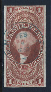 Bigjake: R68a , $1.00 Foreign Exchange - Imperf - 1st Revenue Issue