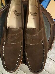 Allen Edmonds Parker Chocolate Brown Suede Loafers 11M