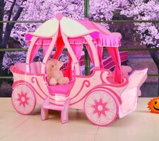 NEW IN! Childrens Pink Fairytale Carriage Princess Bed Frame - 3ft Single