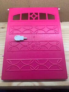 2015 Barbie Dreamhouse Garage Door with Key Replacement Parts Pink Mattel