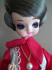 Valentine vtg Japan japanese Stockinette wire Soft Sculpture anime big eyes Doll