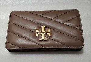 NWT!! Tory Burch Kira Chevron Medium Slim Wallet Classic Taupe  A Great Gift!