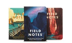 Field Notes Quarterly Edition: National Parks A 3-Pack Memo Book