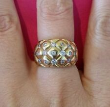 Ring Cubic Zirconia 18k Vintage & Antique Jewellery