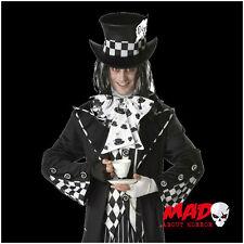 Deluxe Dark Mad Hatter Mens Halloween Fancy Dress Costume XL Fairy Tale Alice
