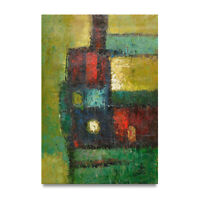 NY Art - Colorful Fine Art Modern Abstract 24x36 Original Oil Painting on Canvas