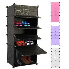 Large Interlocking DIY Shoe/Shoes Bookcase Clothing Cube Storage Rack Stand UK