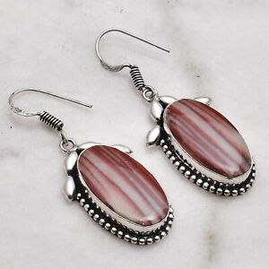 "Red Jasper Handmade Drop Dangle Earrings Jewelry 1.84"" AE 50378"