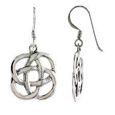 Knot Dangle Earrings Sterling Silver Celtic Quaternary