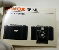 Minox 35 ML  Camera  Instruction Guide Owners Manual  English Germany